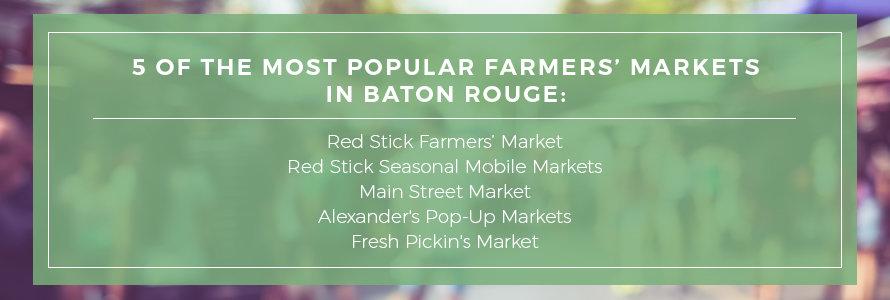 most popular farmers' markets in baton rouge