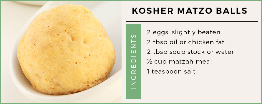 kosher matzo balls recipe